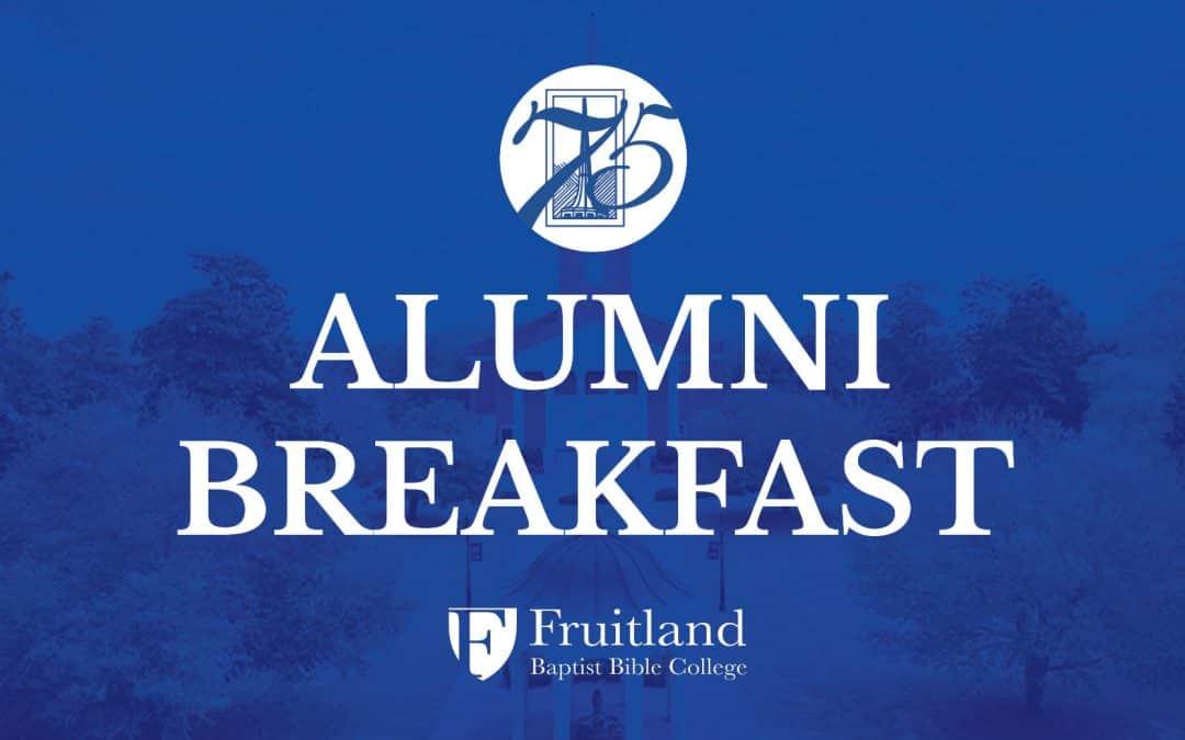 Event: 2021 Fruitland Alumni Breakfast (direct link)